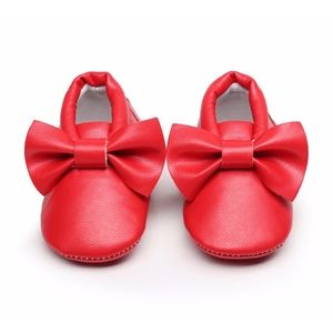 Other - 🎉HOST PICK New red bow soft sole baby moccasins